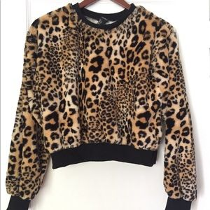 Forever 21 longsleeve cheetah leopard animal print
